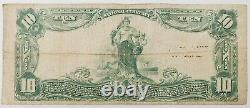 1903 États-unis Distribué 10 $ National Currency Bank Note 6912 Butler, Nj