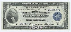 1914 $ 1.00 Boston National Currency-federal Reserve Bank Note Unc # 9418