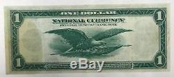 1918 $ 1 Banque Nationale De Réserve Fédérale De New York Grande Note