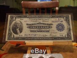 1918 $ 1, Billet De Banque De La Réserve Fédérale, Monnaie Nationale, État Vf / Xf, 718