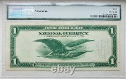 1918 $1 Federal Reserve Bank Note New York National Currency Pmg Ef40