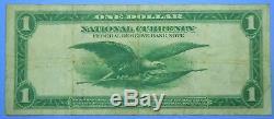 1918 $ 1 Grande Taille Note De La Monnaie Nationale Cleveland Federal Reserve Bank