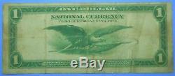 1918 $ 1 Grande Taille Note Nationale De La Monnaie Réserve Fédérale De Richmond