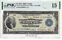 1918 $1 Monnaie Nationale Banque De Réserve Fédérale Note Frbn Dallas Texas Tx (key)