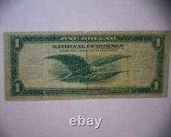 1918 $1 National Currency Grand Billet De Banque Chicago ILL