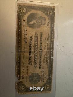 1918 $2 Monnaie Nationale Kansas City Cuirassé U.s. Federal Reserve Bank Note