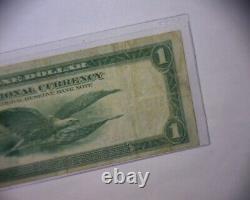 1918 Un Dollar 1 $ Cleveland, Ohio Banque Nationale Monnaie Réserve Fédérale Note