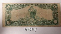 1920 $ 10 Devise Nationale First National Bank Hawaii À Honolulu Plain Back