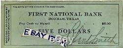 1922 Bonham Texas Script Depression Première Banque Nationale Monnaie Observée B Smith