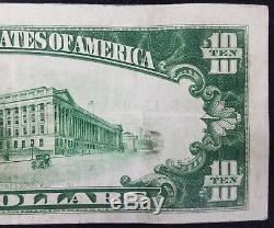 1929 10,00 $ Monnaie Nationale, La Banque Nationale Mccartney De Green Bay, Wi