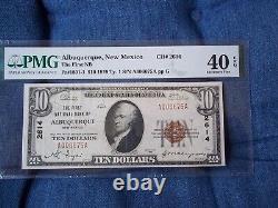 1929 10 $ Albuquerque Nouveau-mexique Nm Monnaie Nationale T1 # 2614 1ère Banque Natl #
