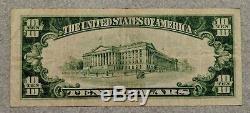 1929 10 $ Banque Nationale Monnaie De La Charte Jackson Michigan 1533 Projet De Loi / Note