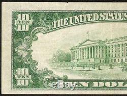 1929 $ 10 Dollar Bill Riggs National Bank Washington DC Note Devise Billets