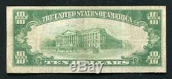 1929 10 $ Duncannon Banque Nationale Duncannon, Pa Monnaie Nationale Ch. # 4142