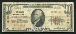 1929 10 $ Fauquier Banque Nationale De Warrenton, Va National Currency Ch. #6126
