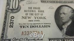 1929 $ 10 Federal Reserve Bank De New York, Ny Rare Us National Monnaie Argent
