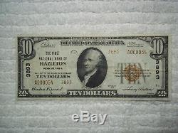 1929 $ 10 Hazleton Pennsylvania Pa Monnaie Nationale T2 # 3893 1er Banque Nationale