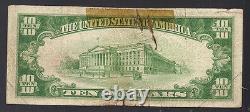 1929 10 $ La Banque Nationale Du Brunswick, Ga National Currency Note Charter #4944