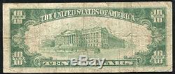 1929 $ 10 La Banque Nationale Du Pacifique De Nantucket, Ma National Currency Ch. # 714
