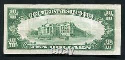 1929 10 $ La Deuxième Banque Nationale De Wilkes Barre, Pa National Currency Ch #104