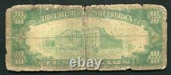 1929 10 $ La First National Bank Of Minotola, Nj Monnaie Nationale Ch. # 10440