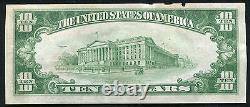 1929 10 $ La Première Banque Nationale De Litchfield, IL National Currency Ch. #3962