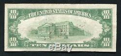 1929 10 $ La Première Banque Nationale De Lock Haven, Pa Monnaie Nationale Ch. # 507