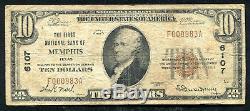 1929 10 $ La Première Banque Nationale De Memphis, Tx Monnaie Nationale Ch. # 6107