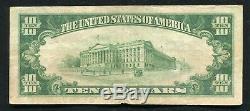 1929 10 $ La Première Banque Nationale De Philadelphie, Pa Monnaie Nationale Ch. #1