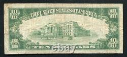 1929 $10 La Première Banque Nationale De Pittsburg, Monnaie Nationale De Ks Ch. Numéro 3463
