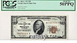 1929 $ 10 Minneapolis Minnesota Federal Reserve Bank Note Brown Monnaie Nationale