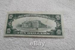 1929 10 $ Monnaie Nationale Bishop First National Bank Of Honolulu Hawaï Note