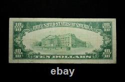1929 $10 National Currency Bishop National Bank Honolulu Hawaii (otx215)