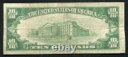 1929 10 $ The Citizens National Bank Of Lewistown, Pa National Currency Ch. #5289