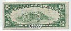 1929 $10 Tiffin Oh Ch 7795 Type 2 Monnaie Nationale Note De Banque A002089 Rare Ohio