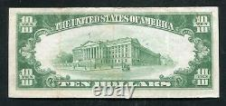 1929 10 $ Tyii First National Bank At Beaver Falls, Pa National Currency Ch. #14117
