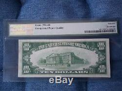 1929 $ 10 Zanesville Ohio Oh Monnaie Nationale T1 # 5760 Citizens National Bank #