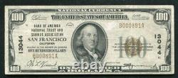 1929 $100 Bank Of America San Francisco, Ca National Currency Ch. #13044