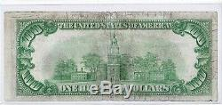 1929 $ 100 Cleveland Ohio Oh Federal Reserve Bank Note Brown Monnaie Nationale