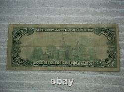 1929 $100 Honolulu Hawaii Hi National Currency T1 # 5550 Bishop 1st Natl Bank #