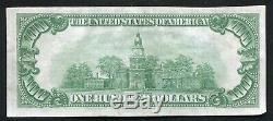 1929 $ 100 La Banque Nationale Omaha, Ne Monnaie Nationale Ch. # 1633 Au