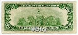 1929 $ 100 Monnaie Nationale Chicago Illinois Bank Note Réserve Fédérale Bh60