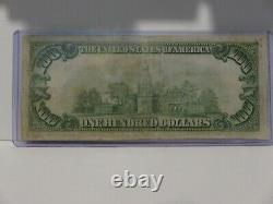 1929 $100 Monnaie Nationale Frb De New York Bank Note 619-1