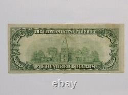 1929 $100 National Currency Federal Reserve Bank Of New York Ny, Vf, Free S/h