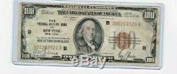 1929 100 Usd Banque De Réserve Fédérale De New York Monnaie Nationale