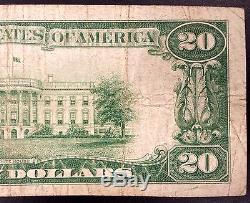 1929 20,00 $ Monnaie Nationale, De La Première Banque Nationale De Remsen, Iowa