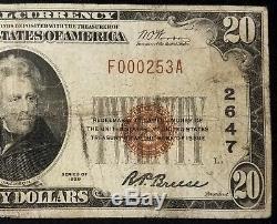 1929 $ 20,00 Monnaie Nationale, La Banque Nationale Echange De Waukesha, Wi