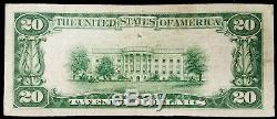 1929 20,00 $ Nat'l Currency, Banque Nationale St. Charles, St. Charles, Illinois