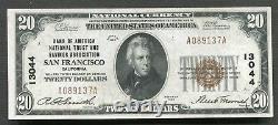 1929 $20 Banque D'amérique San Francisco, Ca Monnaie Nationale Ch #13044 Gem Unc