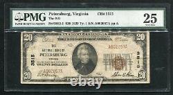 1929 20 $ Banque Nationale De Pétersbourg, Va Monnaie Nationale Ch. 3515 Pmg Vf-25